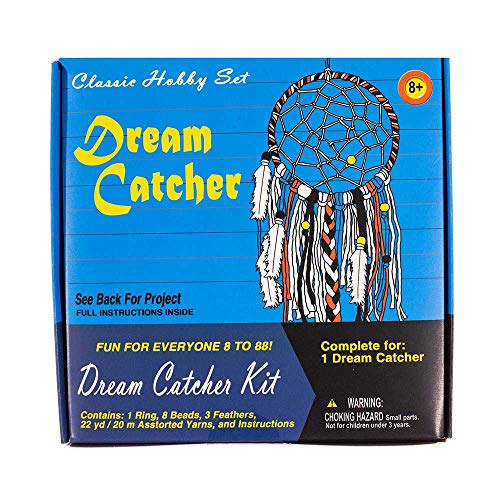 West Coast Paracord Retro Crafting Kit Dream Catcher 22 Yards 20 Meters of Yarn Ring Beads and Feathers