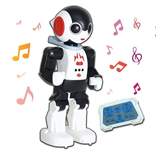 YARMOSHI Remote Control Intelligent Robot Toy – Walking Talking Dancing Singing with Flashing Lights and Volume USB Charging Fun Gift for Age 3+