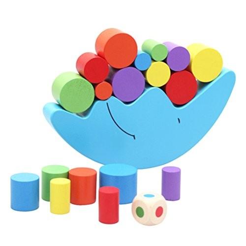 STOBOK Wooden Stacking Building Blocks Toddlers Balancing Toys Games Playset Educational for Kids Children