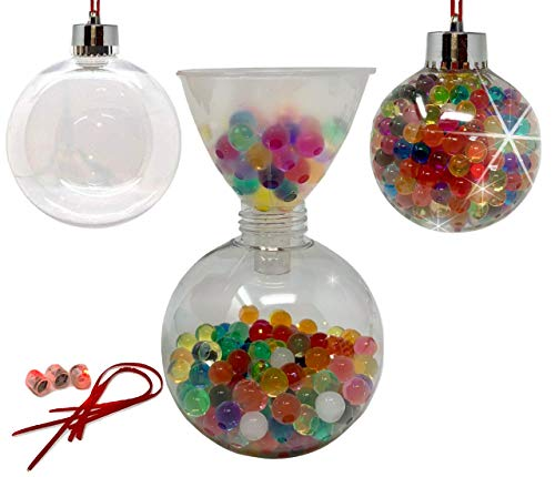 Baby Mushroom DIY Christmas Ornament Kit – Craft with LED Lights Beaded Ornaments Decorating Ornaments