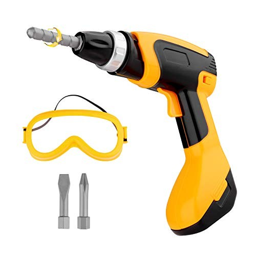 Toy Tool Drill Kids Power Construction with Goggle Toddlers Shop Tools for Boys