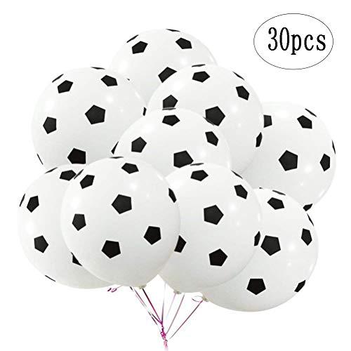BinaryABC Soccer Latex BallonsFootball BalloonSports Theme Birthday Party Decorations30Pcs