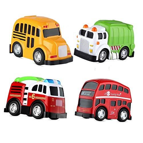 Mallya Pull Back Car Toy School Bus Double Decker London Die cast Vehicles for