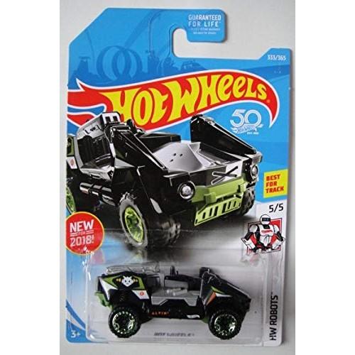 Hot Wheels Robots 5 5 Black Green BOT 333 365 50TH Anniversary Card