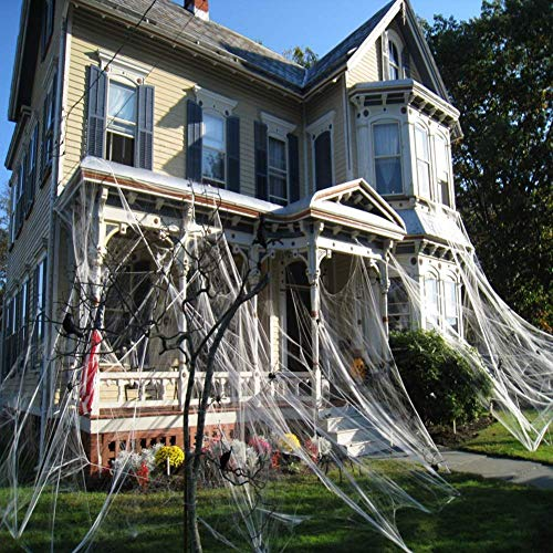 CHICIEVE Halloween Spider Webs Stretchable Decorations WebsEnough to cover 1000 Square Feet 300g Web