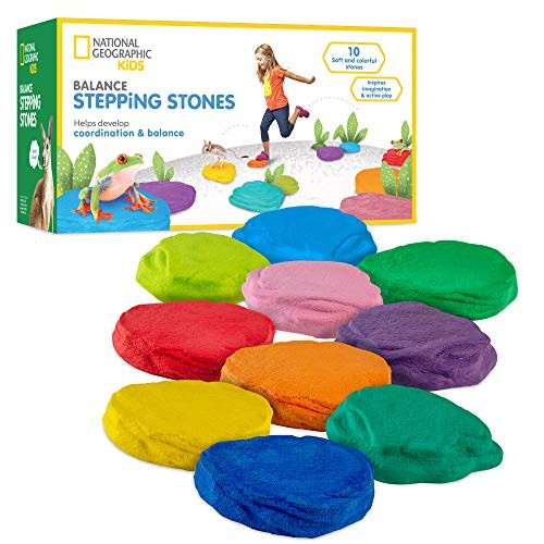 NATIONAL GEOGRAPHIC Balance Stepping Stones – Early Learning and Development for Kids with 10 Soft
