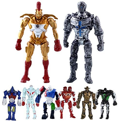 Hot Sell Real Steel 8pcs set Toys 5 PVC Action Figure Atom Midas Ambush Metro Noisey Iron Boy Zeus Collectible Robots Ideal Gift