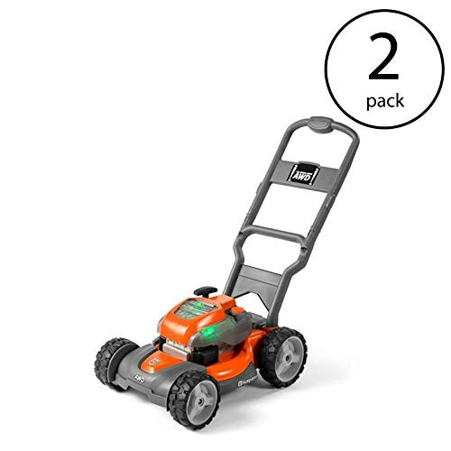 Husqvarna Battery-Powered Kids Toy Lawn Mower for Ages 3+ Orange 2 Pack