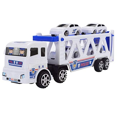 Bifast Children Trumpet Truck with Mini Police Cars Playing Toys Vehicles for Kid Boys