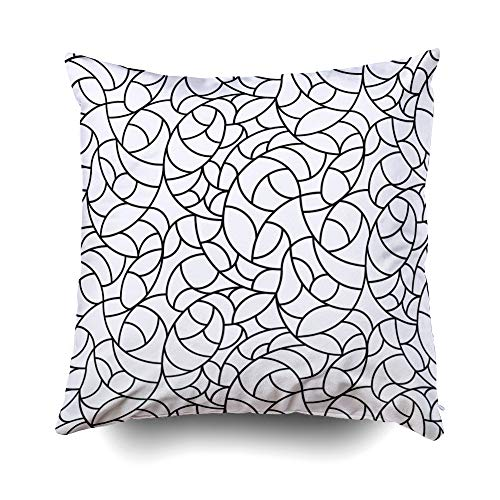 Decorative Pillow CoversEMMTEEY 20×20 Covers Home Throw for Sofa lattice pattern trellis abstract art backdrop background beautiful crossing decor decorati Square Double Sided Pr