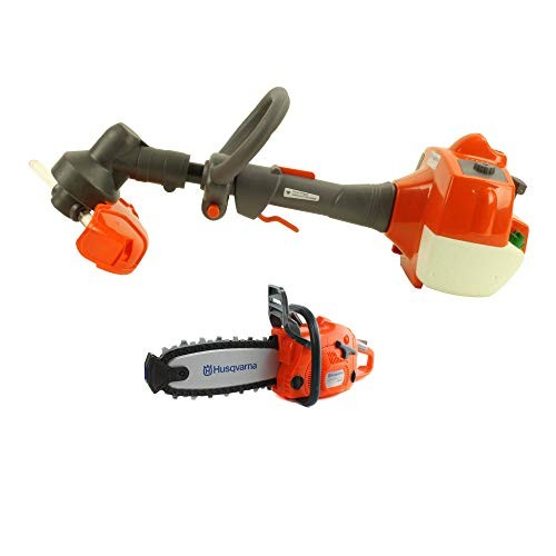 Husqvarna Battery-Operated Pretend Play Toy Weed Trimmer and Chainsaw for Kids