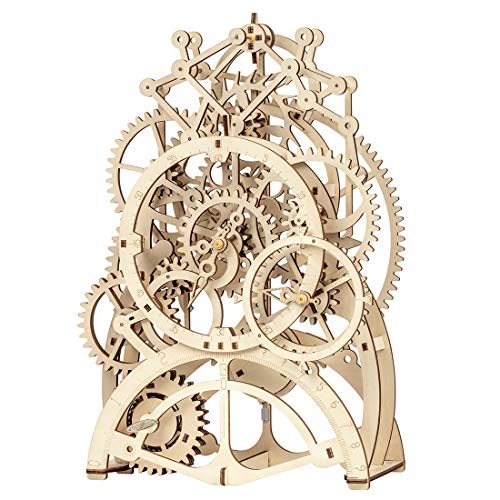 ROKR 3D Wooden Mechanical Pendulum Clock PuzzleMechanical Gears Toy Building SetFamily Craft KIT Supplies-Best Birthday Gifts for Kids Adults to Build