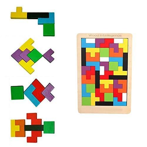 Building Blocks ToysMeiLiio Kids Toys Wooden Intelligence Colorful Tetris Educational for Children