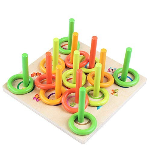 Zhenyu Baby Wooden Toys Building Chopping Block Circling Game Learning & Educational Table Battle Gifts for Kids
