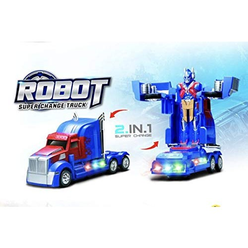 INCHOI JOYSAE Robot Races car Battery Operated Bump and Go Transforming Toys for Kids