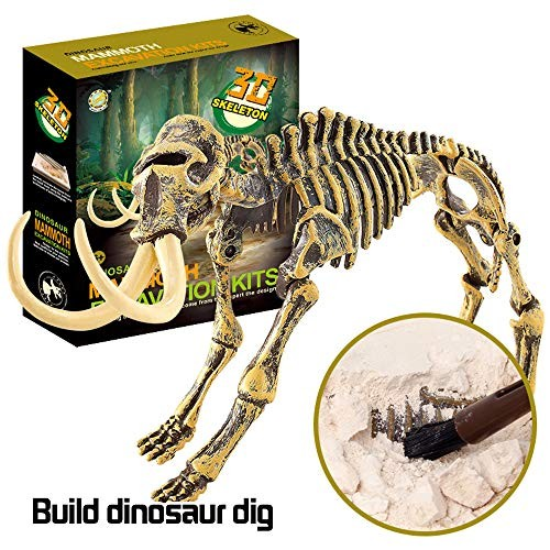 Dinosaur Fossil Dig Kit Witspace Excavation and Assembly Toys-Science Educational Archaeology Kids Gifts C Mammoth