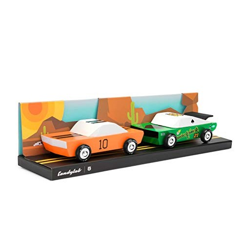 Candylab Toys Wooden Cars Juniors Desert Race Pack Kids Toy Cars Modern Vintage Style