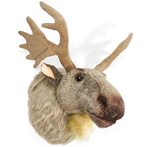VIAHART Muscovy The Moose 24 Inch with Antlers Stuffed Animal Plush Head Trophy Wall Mount Bust Shipping from Texas by Tiger Tale Toys