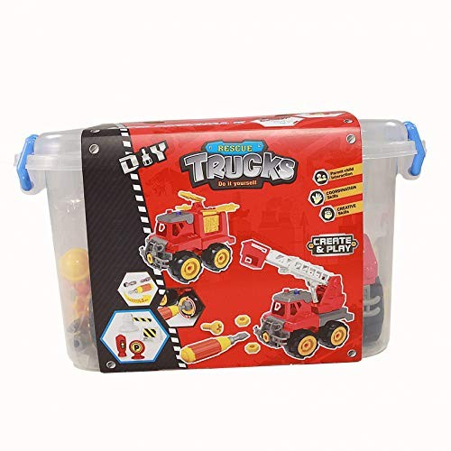Create and Play Do It Yourself Fire Rescue Truck Kit