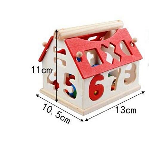 People Favorite Gifts House Digital Baby Educational Toys Building Blocks Wooden Geometry Shape