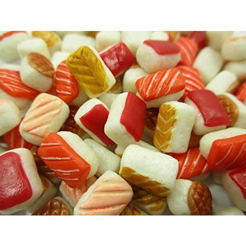Wonder Miniature Dollhouse Food Supply 50 Japanese Food Salmon Nigiri Sushi Loose Food 15005
