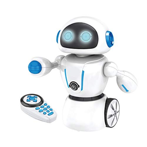 Kids Tech Va90080 Interactive Maze Master Robot w Remote Control & Path-Drawing Pen Battery Powered Toy Dances to Music Included It Will Follow Controlled White