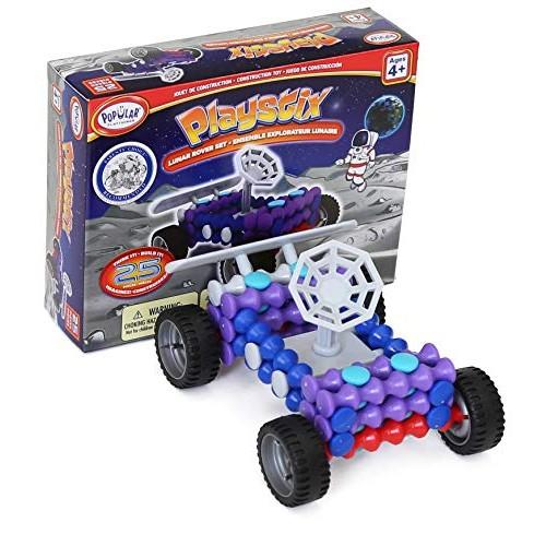 Popular Playthings Playstix Master Kit Lunar Rover Construction Toy Building Blocks 25 Piece