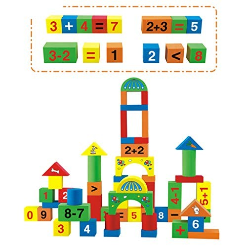 52 Pieces of Multi-Color EVA Foam Building Blocks Kids Toddlers Early Educational Toy Birthday