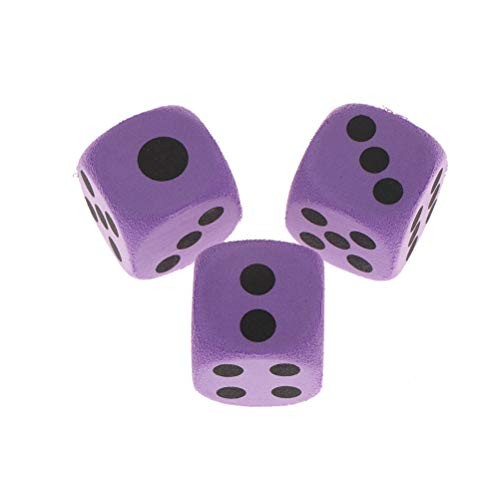 Yiphates 10Pcs EVA Foam Playing Dice Block Party Toy Game Prize Children 38cm in Edge Length