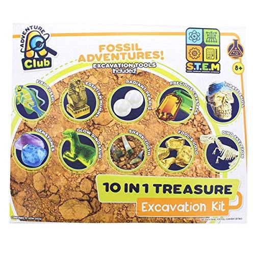 Anker Play Fossil Adventures 10-in-1 Treasure Excavation Kit