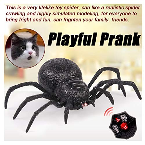 Wenini Remote Control Spider Toy Scary Wolf Robot Realistic Novelty Prank Toys Gifts Spider