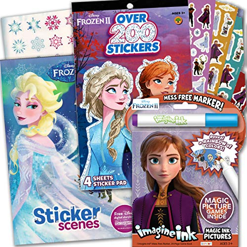 Disney Frozen 2 Imagine Ink Coloring Activity Book Deluxe Set — Including Sticker Books with Over 200 Stickers