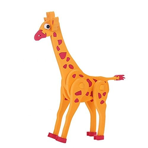 Kids Puzzle Toy EVA Foam Stereo Giraffe Model Building Blocks Set for Baby Playing Educational Gift
