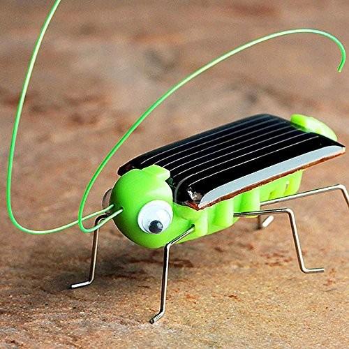 Glumes Solar Grasshopper – World's Smallest Powered Robot Toy Educational Gadget Christmas Gift