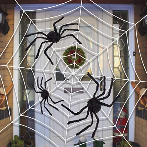 Y-Stop Halloween Giant Spider Plush Scary Toys for Kids Party Decorations or Haunted House Decor