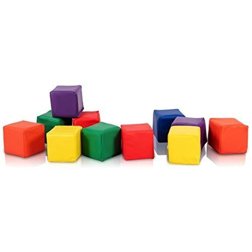12 Piece 55 Soft Foam Building Blocks with Ebook