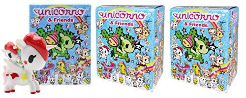 tokidoki Unicorno & Friends Collectible Vinyl Figures 3-inch Pack of 3