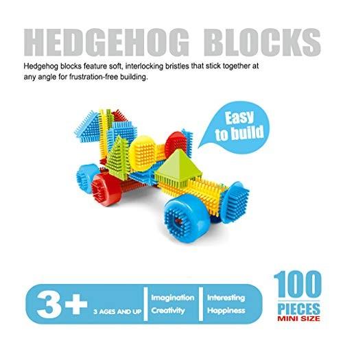 Wenini Building Blocks 3D Bristle Shape Tiles Construction Playboards Toys for Toddlers Kids 100pcs 120pcs 150pcs Gifts 100pcs