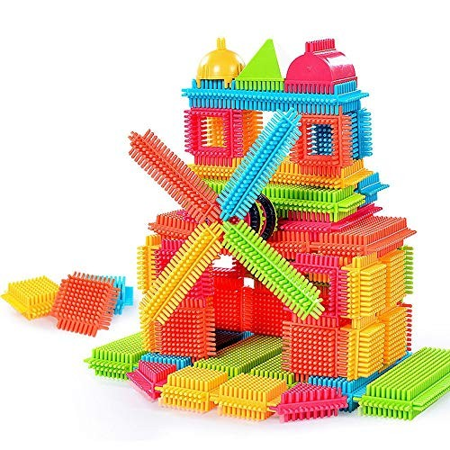 callm 100 120 150pcs Bristle Shape 3D Building Blocks Tiles Construction Playboards Toys 150PCS