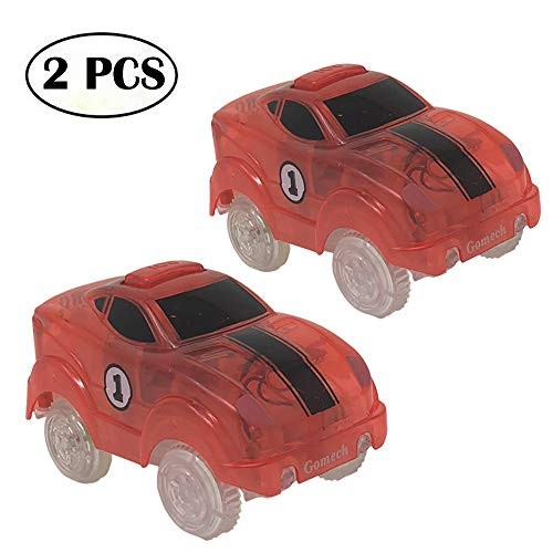Gomech Tracks Cars 2 Pack Light Up Track Cars Compatible with Magic Track Perfect