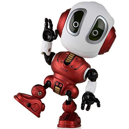 sholdnut Mini Talking Robots Toy for KidsTravel Pocket with Posable Body Smart Educational Stem Toys Voice Changer and Robotics Kid