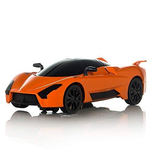 Bump N' Go Race Car Push Toy for Kids Children w/ Flashing Lights &