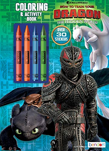 Dreamworks Dragons Bendon 37231 How to Train Your Dragon 3 Coloring & Activity Book with Crayons Multicolor