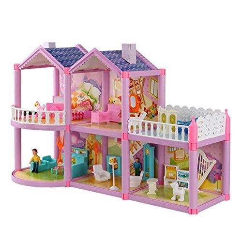 CHoppyWAVE Toys for Boys Girl Toddler Princess Playing House Toy DIY Plastic Cottage Building Blocks Handmade Craft