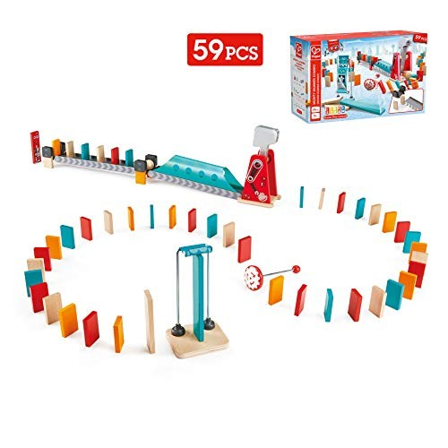Hape Mighty Hammer Domino Double -Sided Wooden Ball Set for Kids Aged 4 and Up