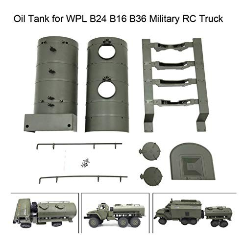 Wenini WPL Remote Control Army Green Oil Tank for B24 B16 B36 Military RC Car Truck 1 Set of WPL