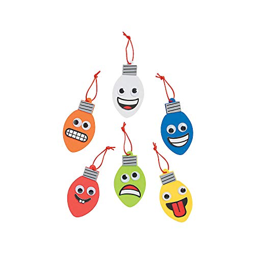 Goofy Christmas Lights Craft Kit 24Pc – Crafts for Kids and Fun Home Activities