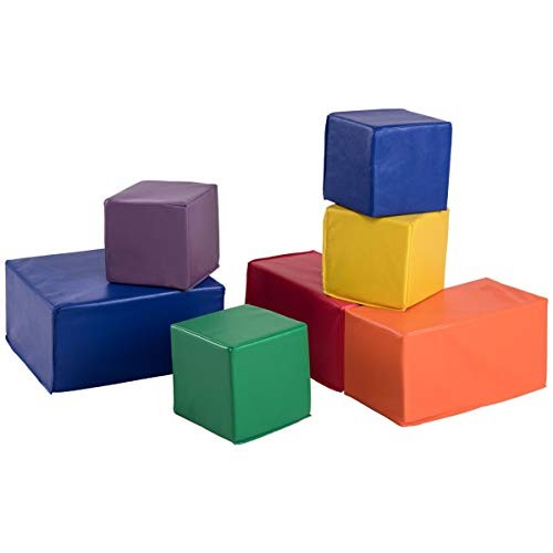 CHOOSEandBUY 7 Pieces Set PU Foam Big Building Blocks for Kids New Perfect Beautiful Classic Elegant Useful