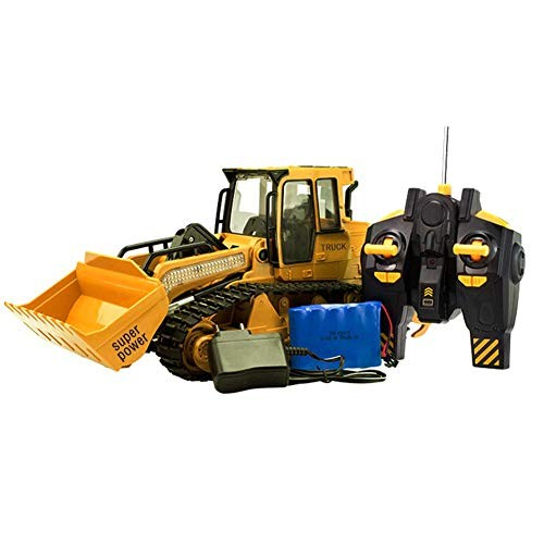 IMSHI Bulldozer Toy Car – xM-6822L Large Simulated Remote Control with Light Sound Model Engineering Equipped USB Charging Cable for Boys Birthday Gift