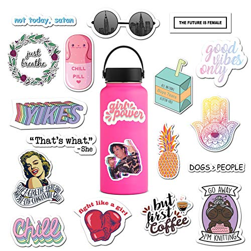 The Carefree Bee – 20 Feminist Stickers for Water Bottles Laptops Series 2